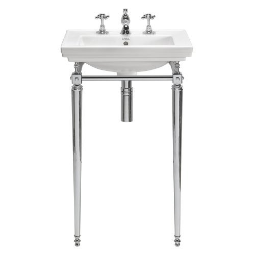 Astoria Deco Small Basin Stand with Towel Rail chrome