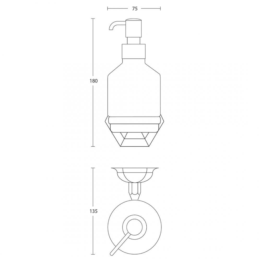 Astoria Wall Mounted Soap Dispenser