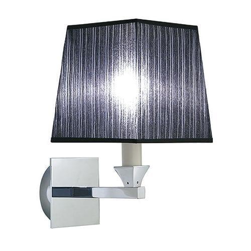 Astoria wall light with a Black fabric shade