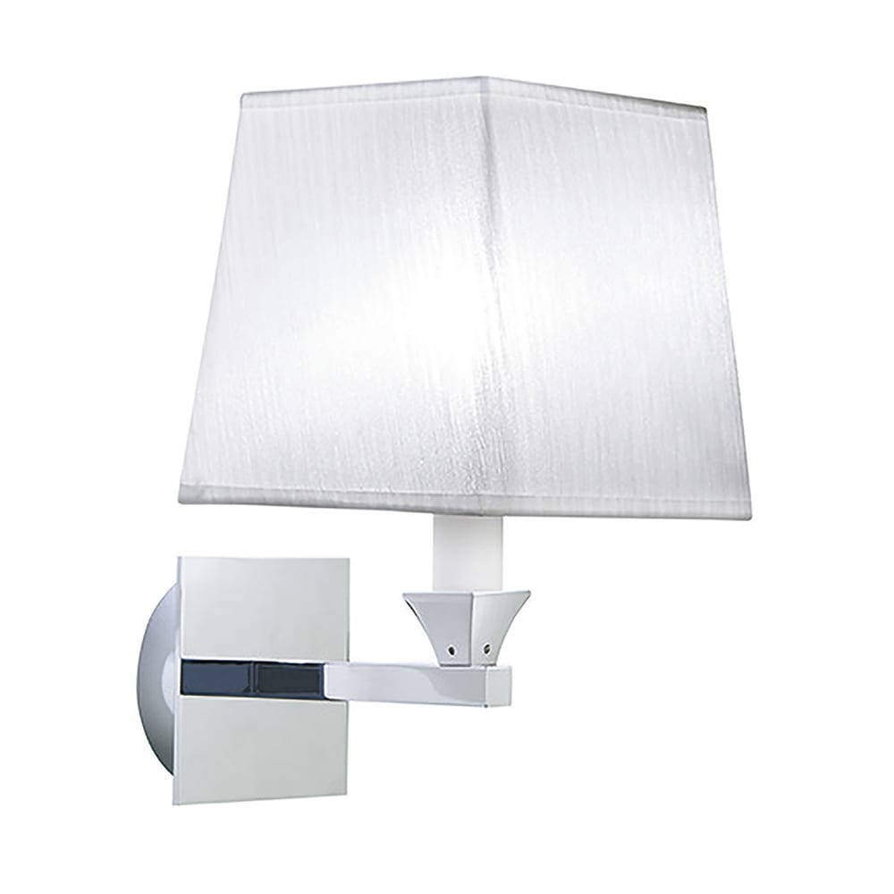Astoria wall light with a White fabric shade