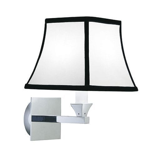 Astoria wall light with the Oxford Black trim shade