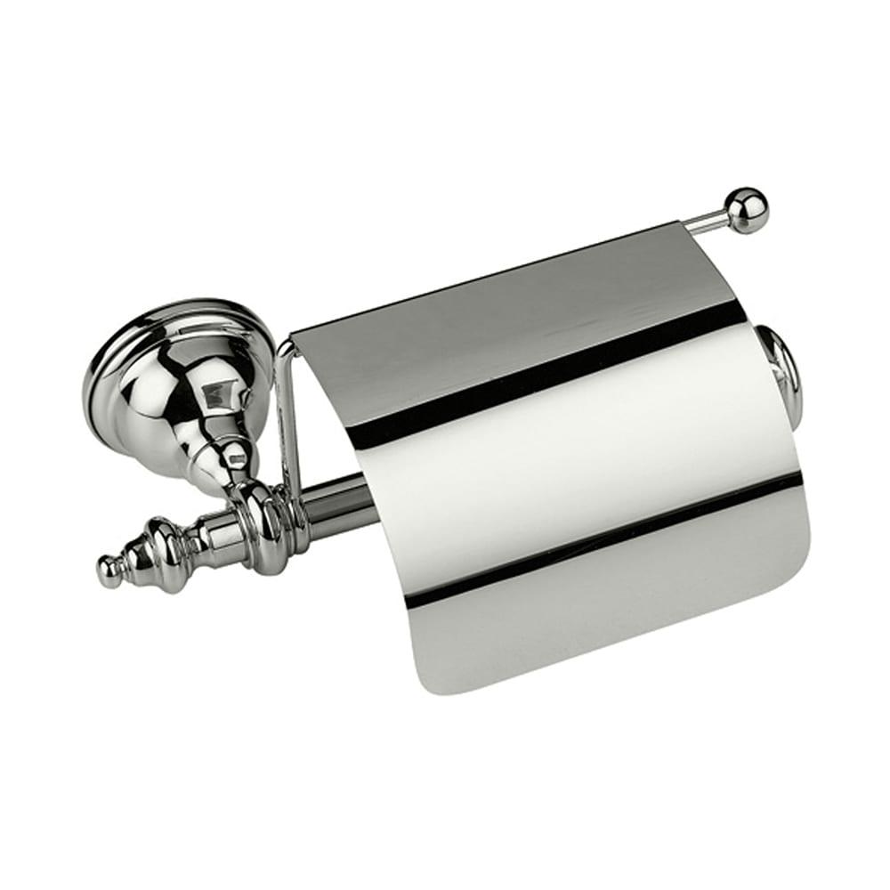 Avignon Covered Toilet Roll Holder Polished Nickel