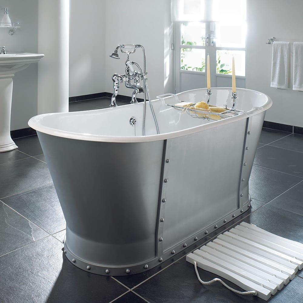 Baglioni cast iron bath 0 tap holes