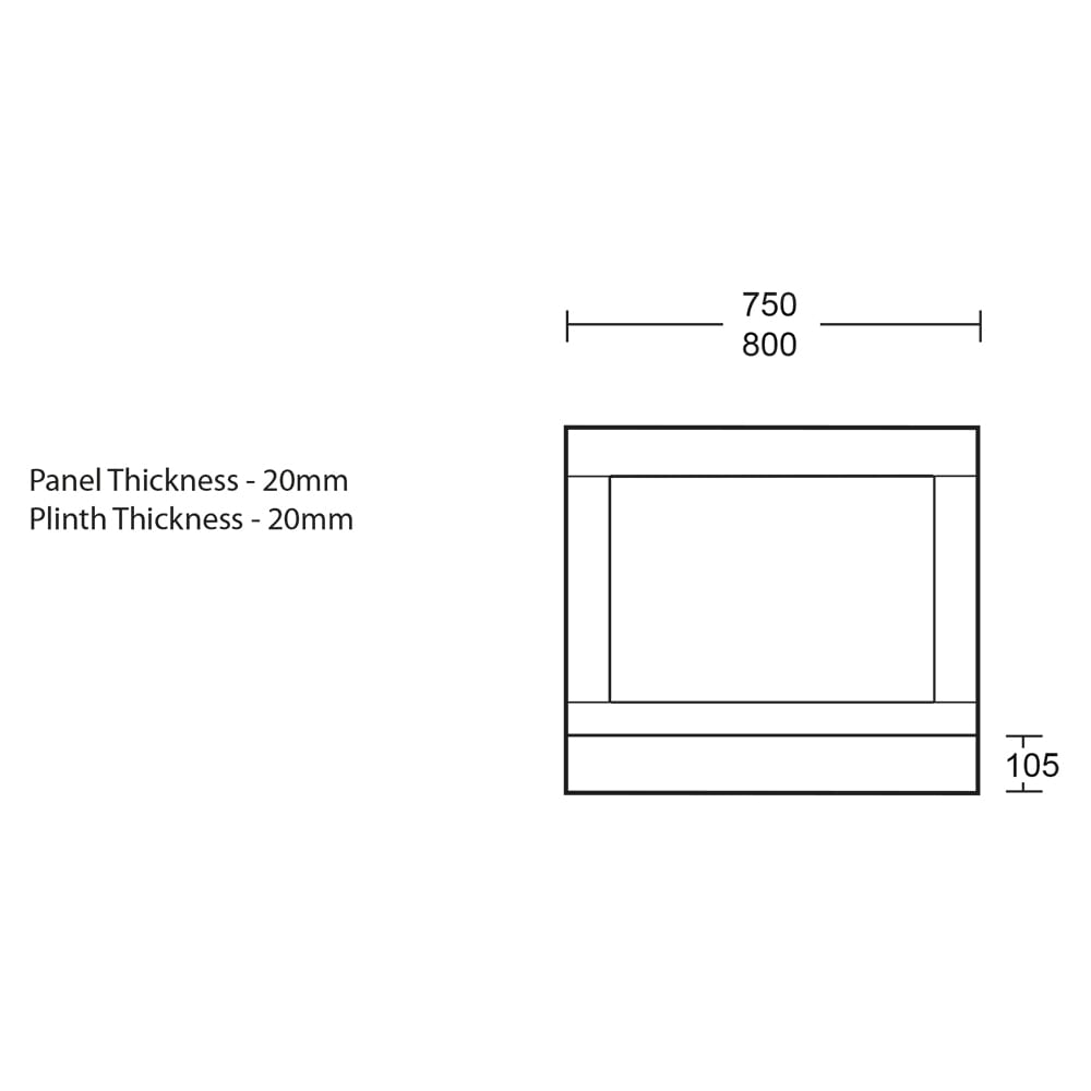 Thurlestone bath end panel - 730mm