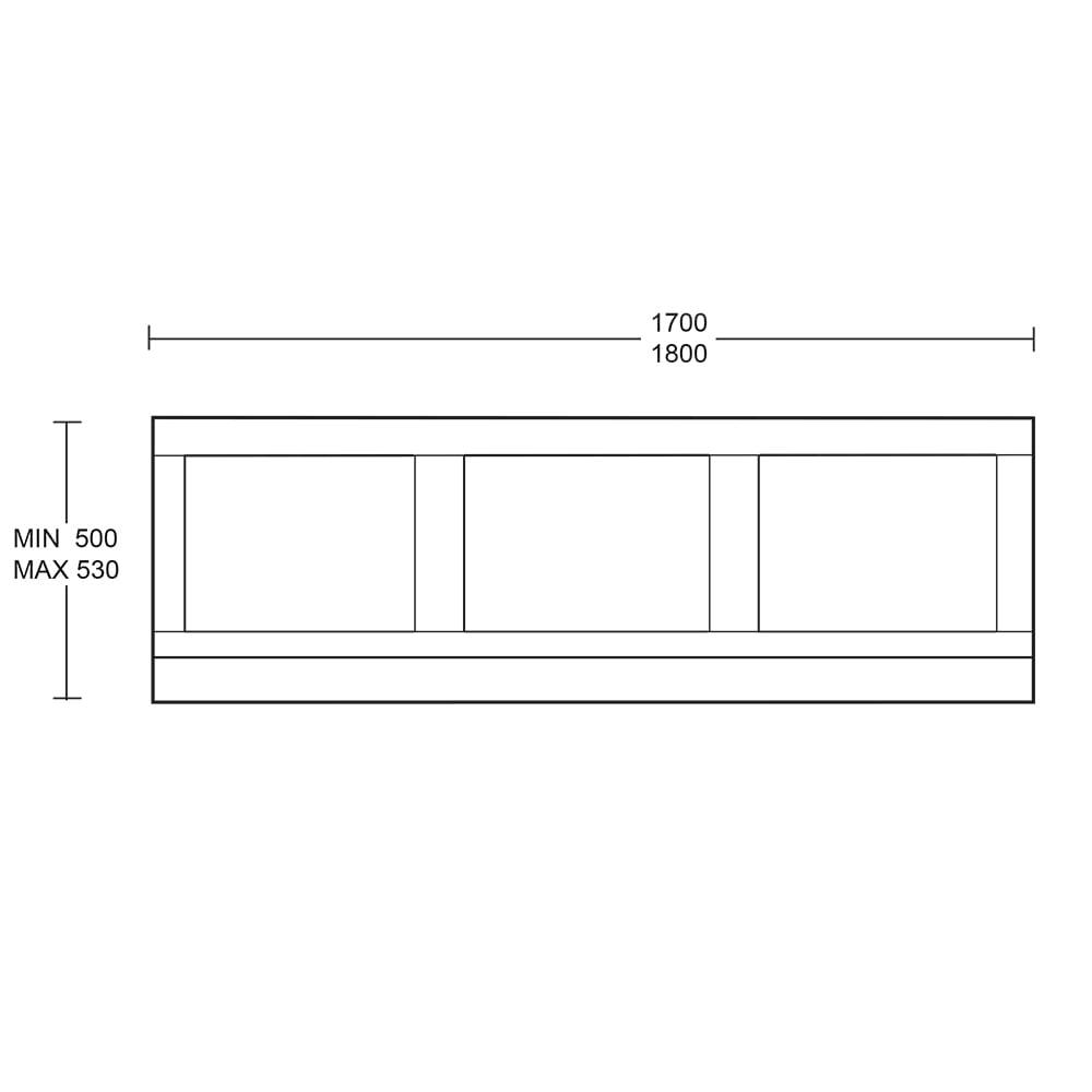 Thurlestone bath front panel - 1800mm