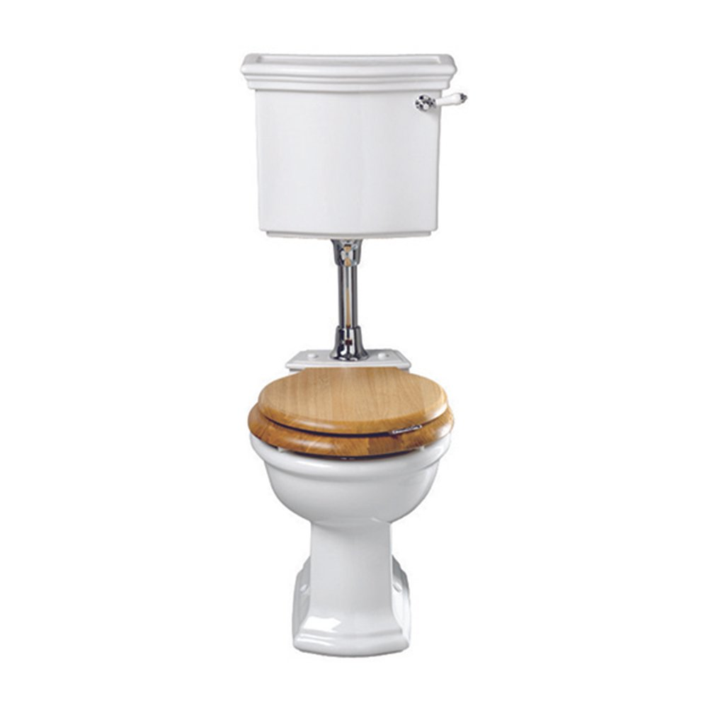 Bergier Low level cistern with lever - ceramic plate