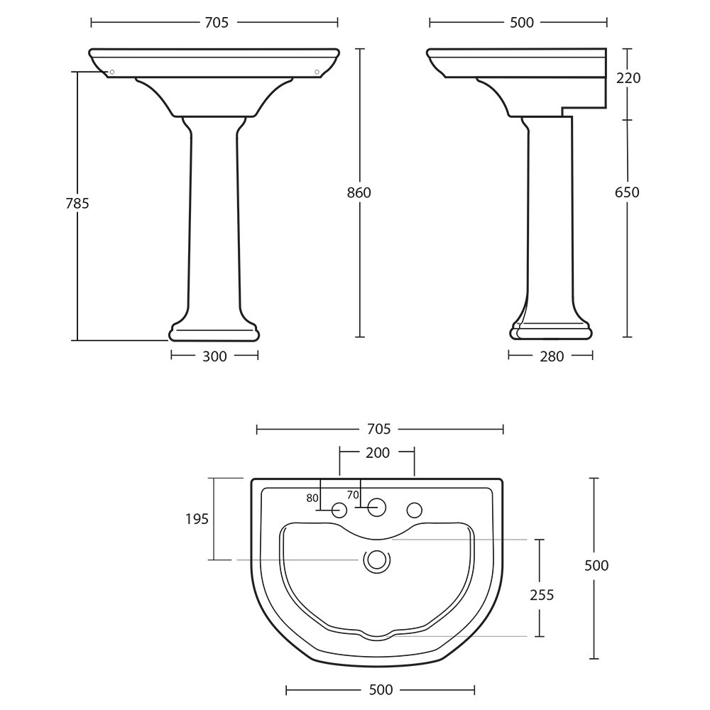 Bergier large basin and ped tech spec