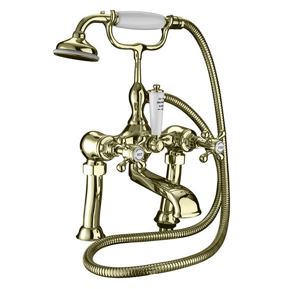 """Victorian 3/4"""" bath shower mixer, complete with shower kit"""