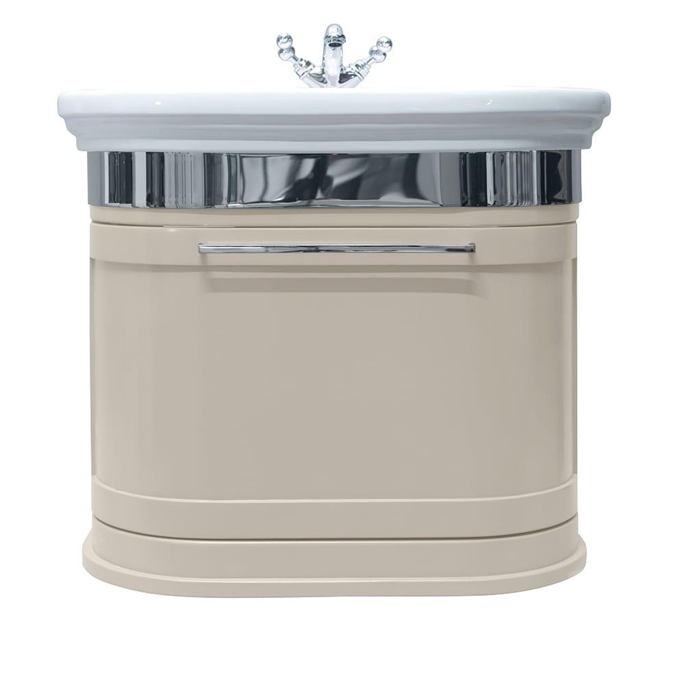 Carlyon Roseland 2 drawers wall-hung unit cream haze