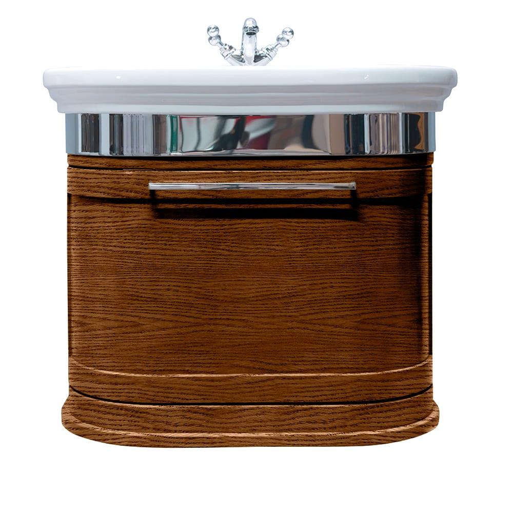 Carlyon Roseland 2 drawers wall-hung unit dark oak