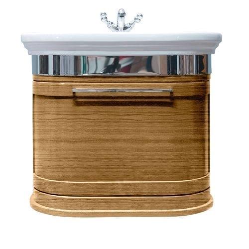 Carlyon Roseland 2 drawers wall-hung unit light oak