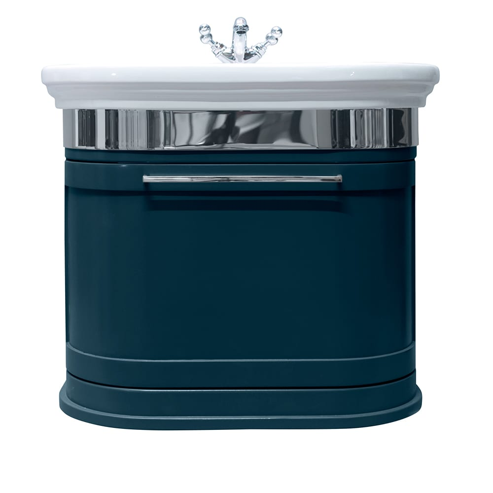 Carlyon Roseland 2 drawers wall-hung unit moseley blue