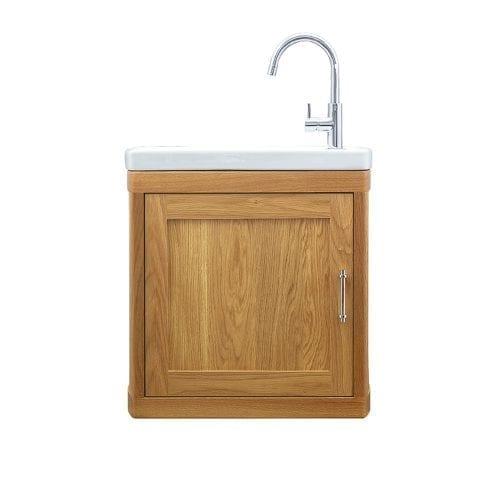 Carlyon Thurlestone 1 door cloak vanity RH Natural Oak