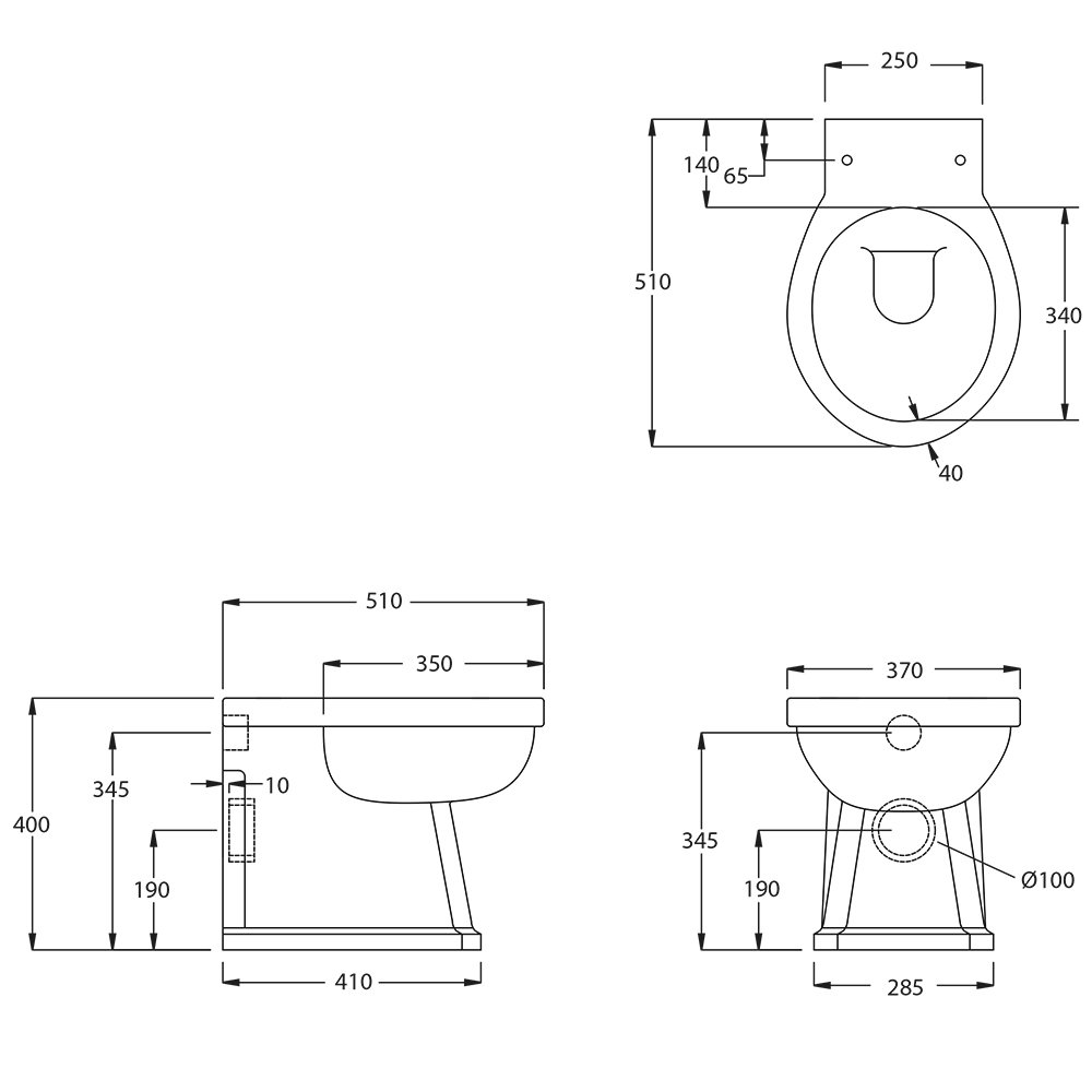 Chelsea Back to Wall pan tech spec