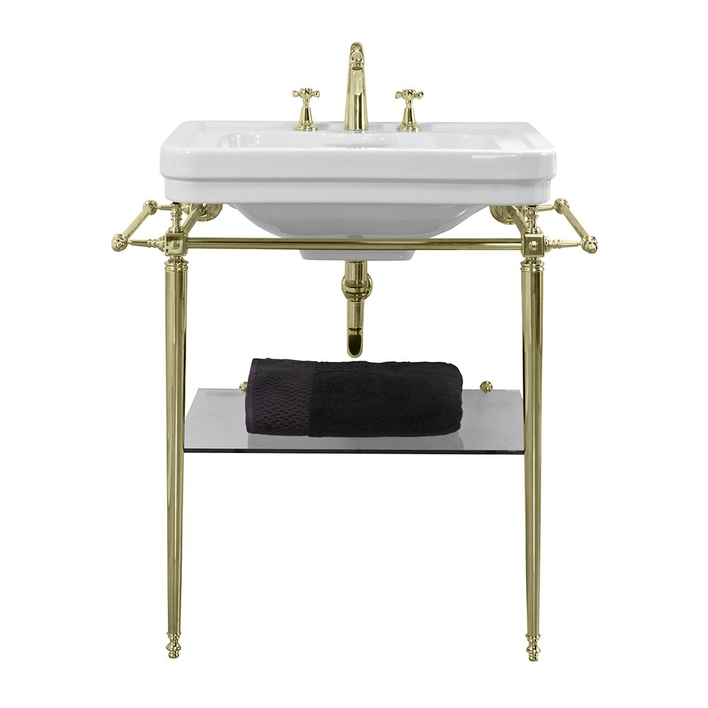 Chelsea Basin Stand 620mm antique gold