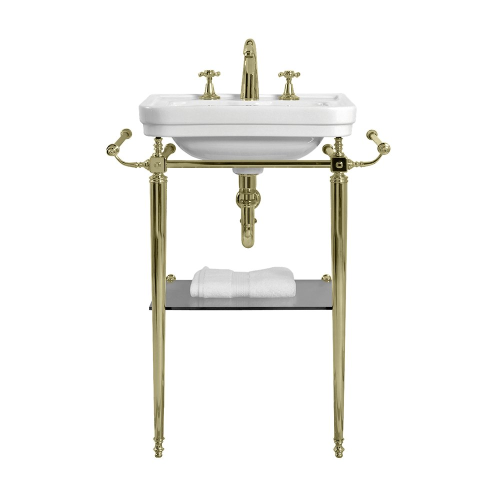 Chelsea Cloak Basin Stand 510mm antique gold