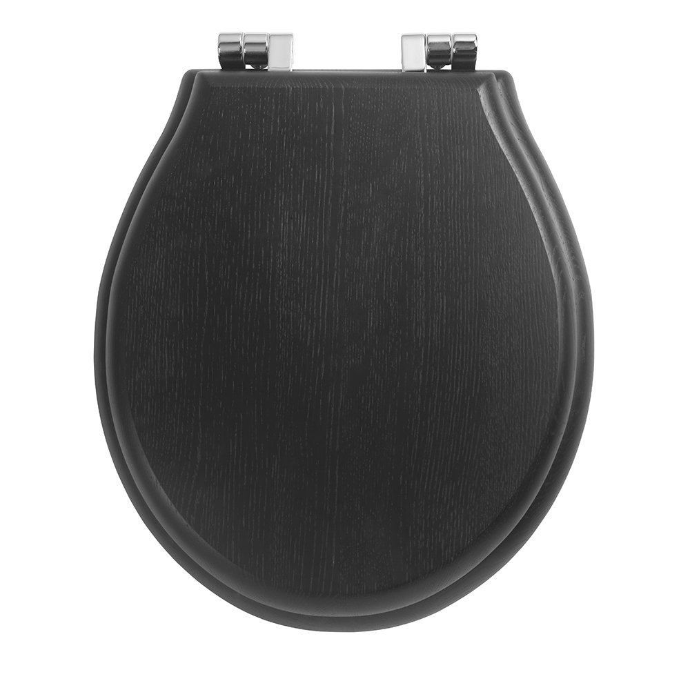 Chelsea Soft close solid wood toilet seat Wenge