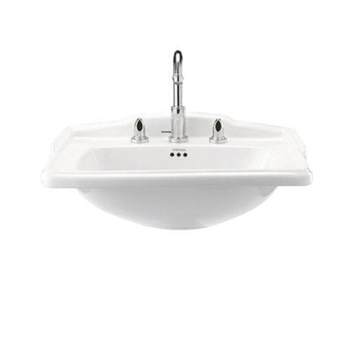 Drift square large basin white