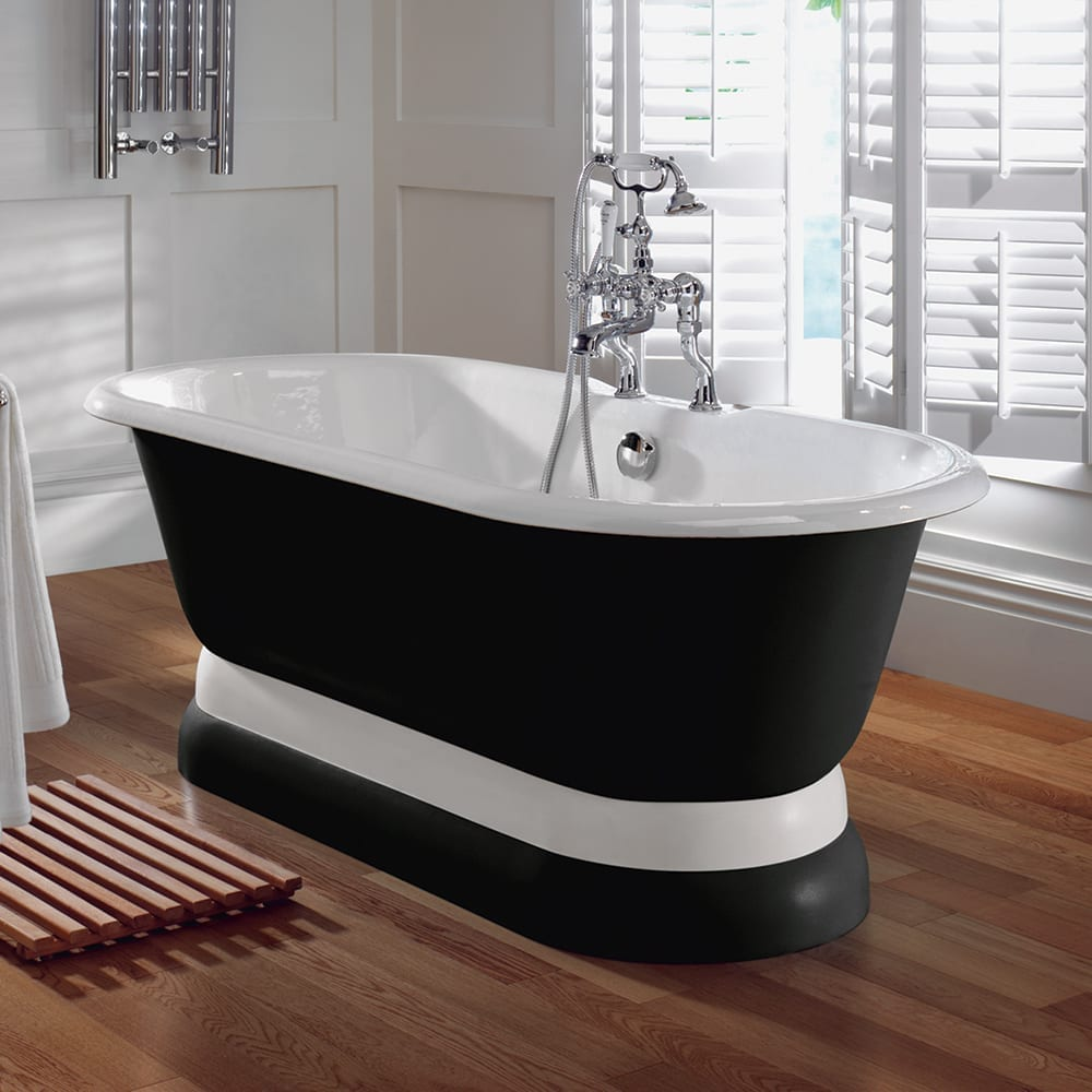 Marriot double ended bath with co-ordinated plinth