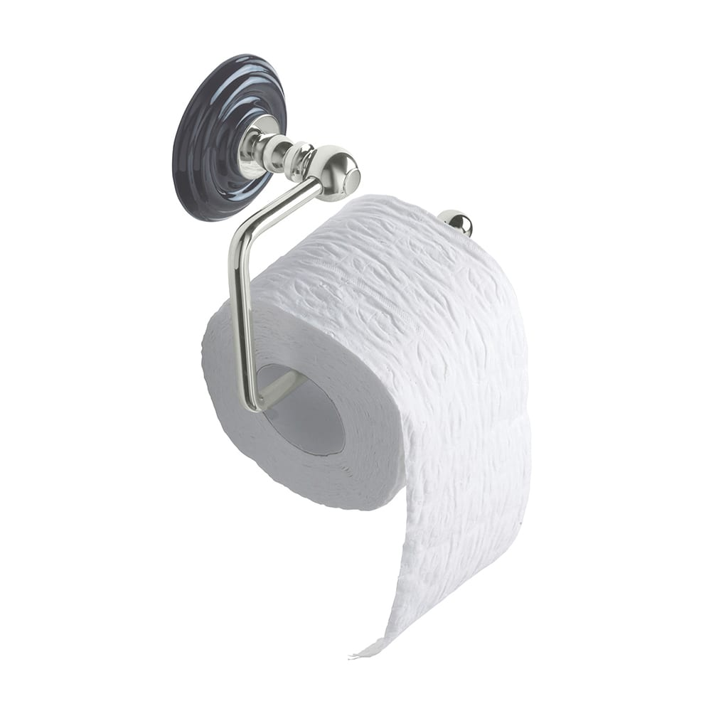 Oxford toilet roll holder polished nickel