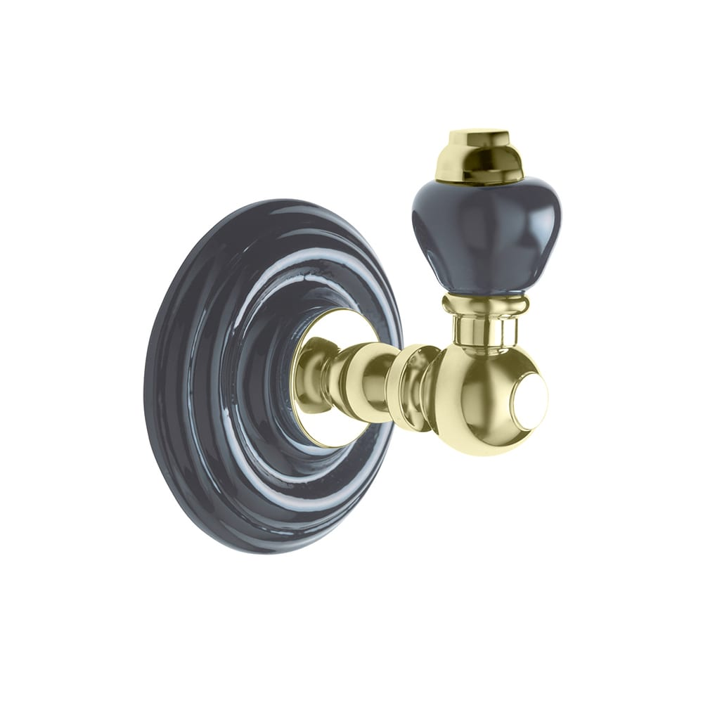 Oxford wall mounted robe hook antique gold