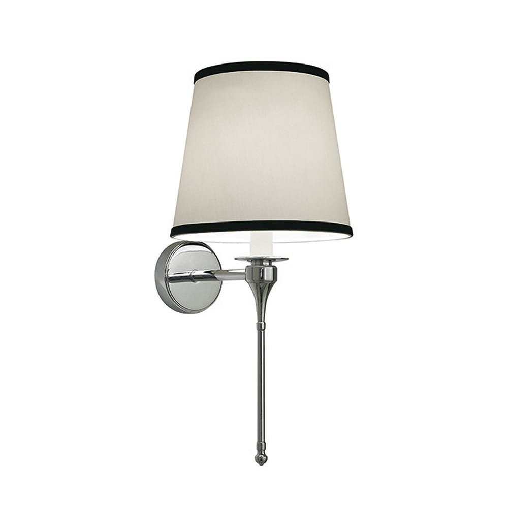 Pedant light with the Oxford tall Black trim shade