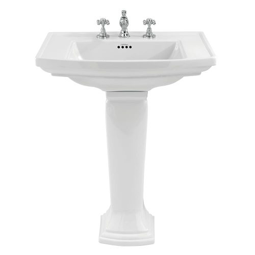 Radcliffe large basin and pedestal white