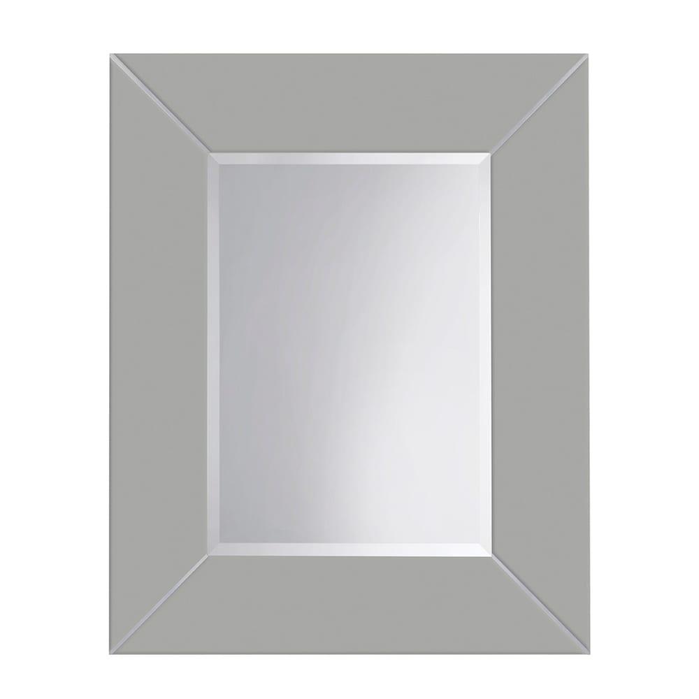 Rebecca luxury mirror with metal strips_Grey Ecru