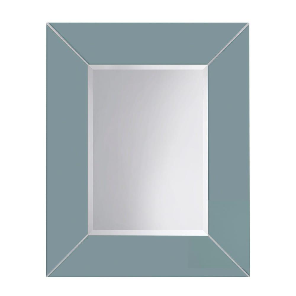 Rebecca luxury mirror with metal strips_Henley Blue