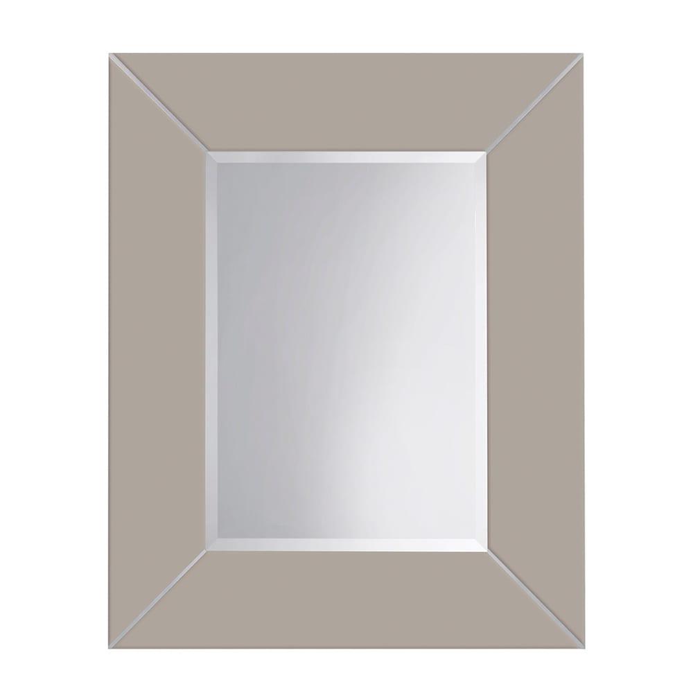 Rebecca luxury mirror with metal strips_Nutmeg Haze