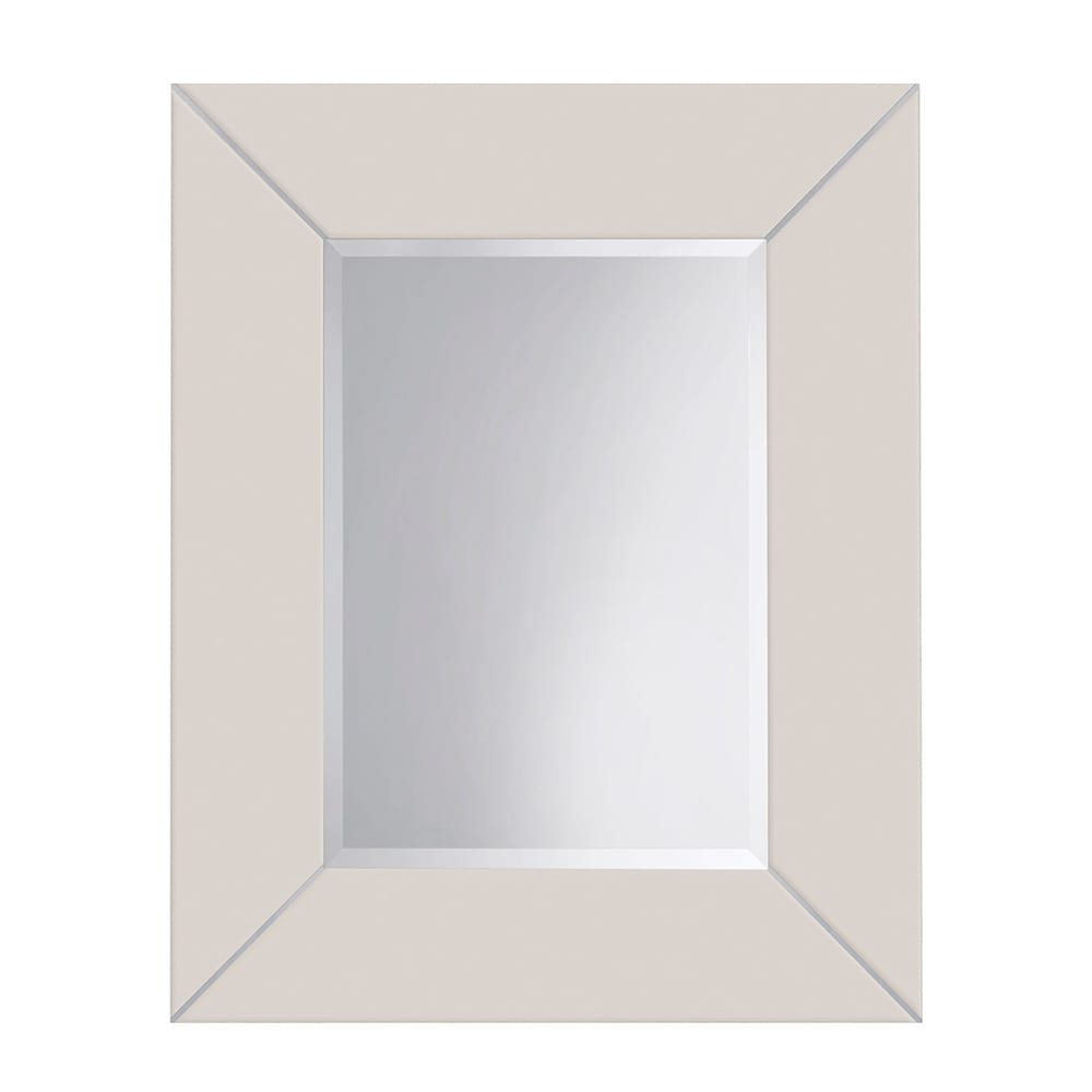 Rebecca luxury mirror with metal strips_Rosendale White