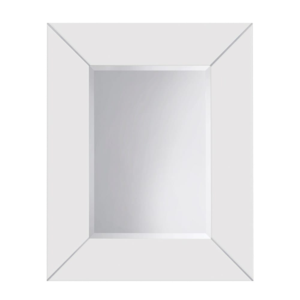 Rebecca luxury mirror with metal strips_White