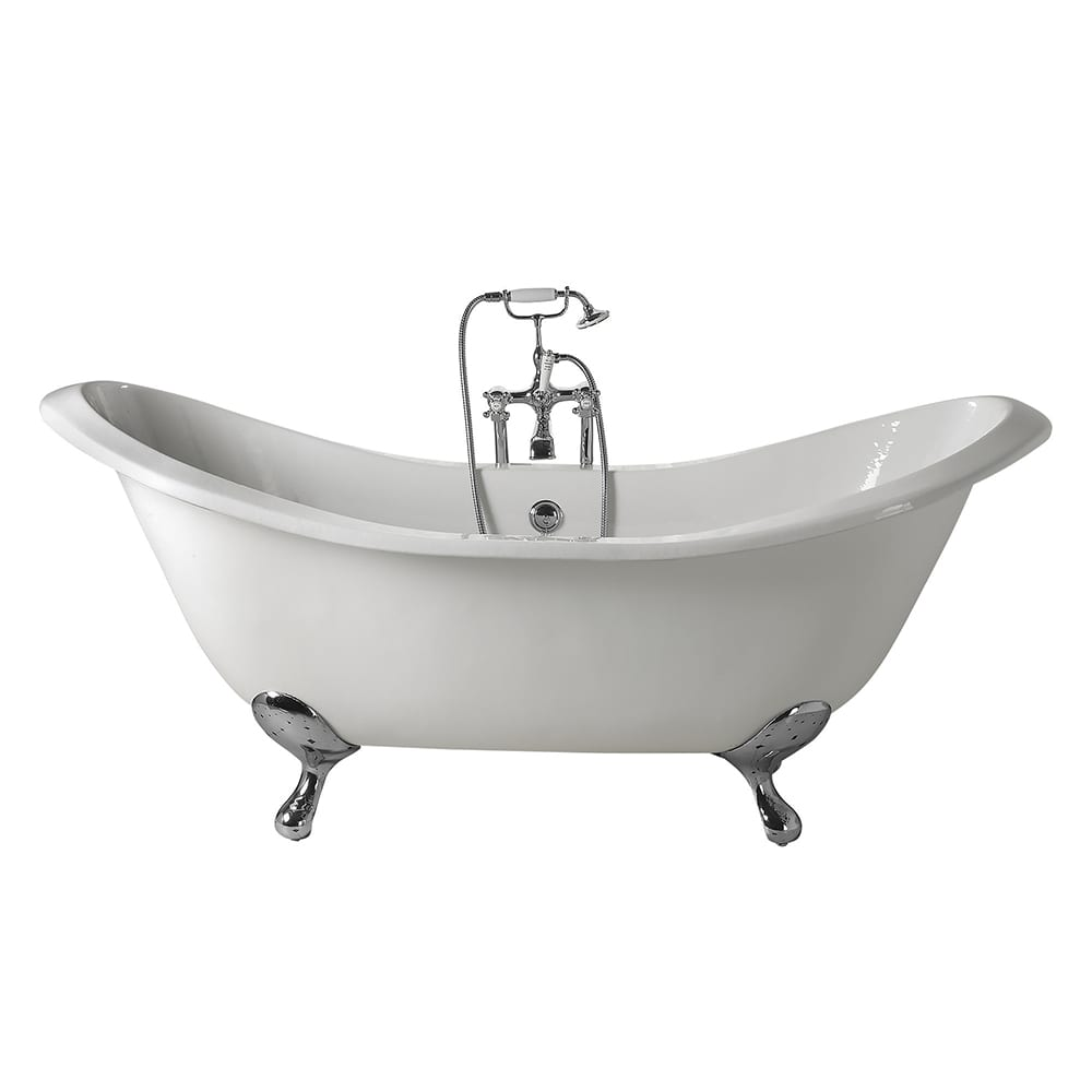 Sheraton double ended slipper bath supplied with ball G&H feet