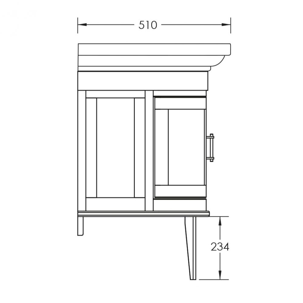 Carlyon Thurlestone 2 Door Wall Hung Vanity Unit