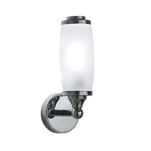 toledo single wall light with glass shade