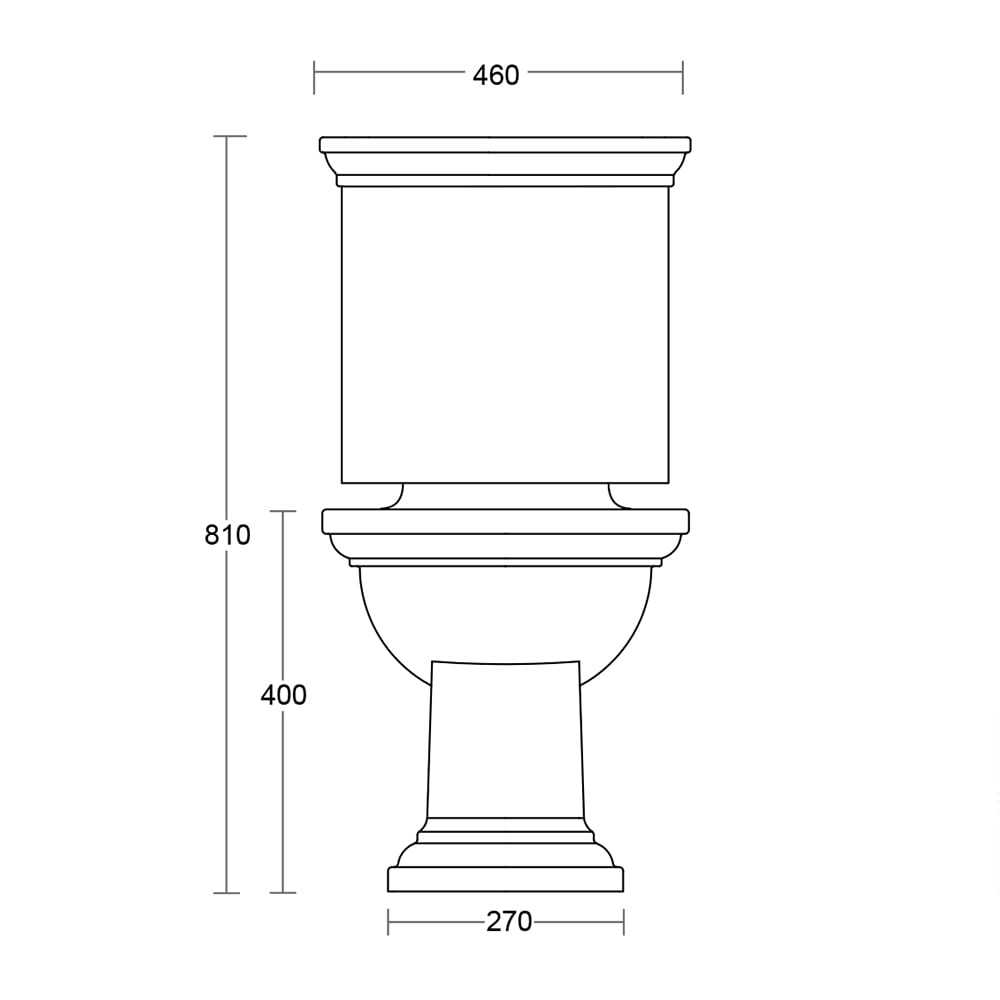 Carlyon Close Coupled Cistern & Fittings